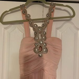 Dresses & Skirts - Blush Dress with silver beaded neck